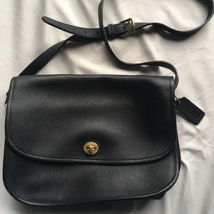 Coach Black Leather Crossbody Purse M040-9790